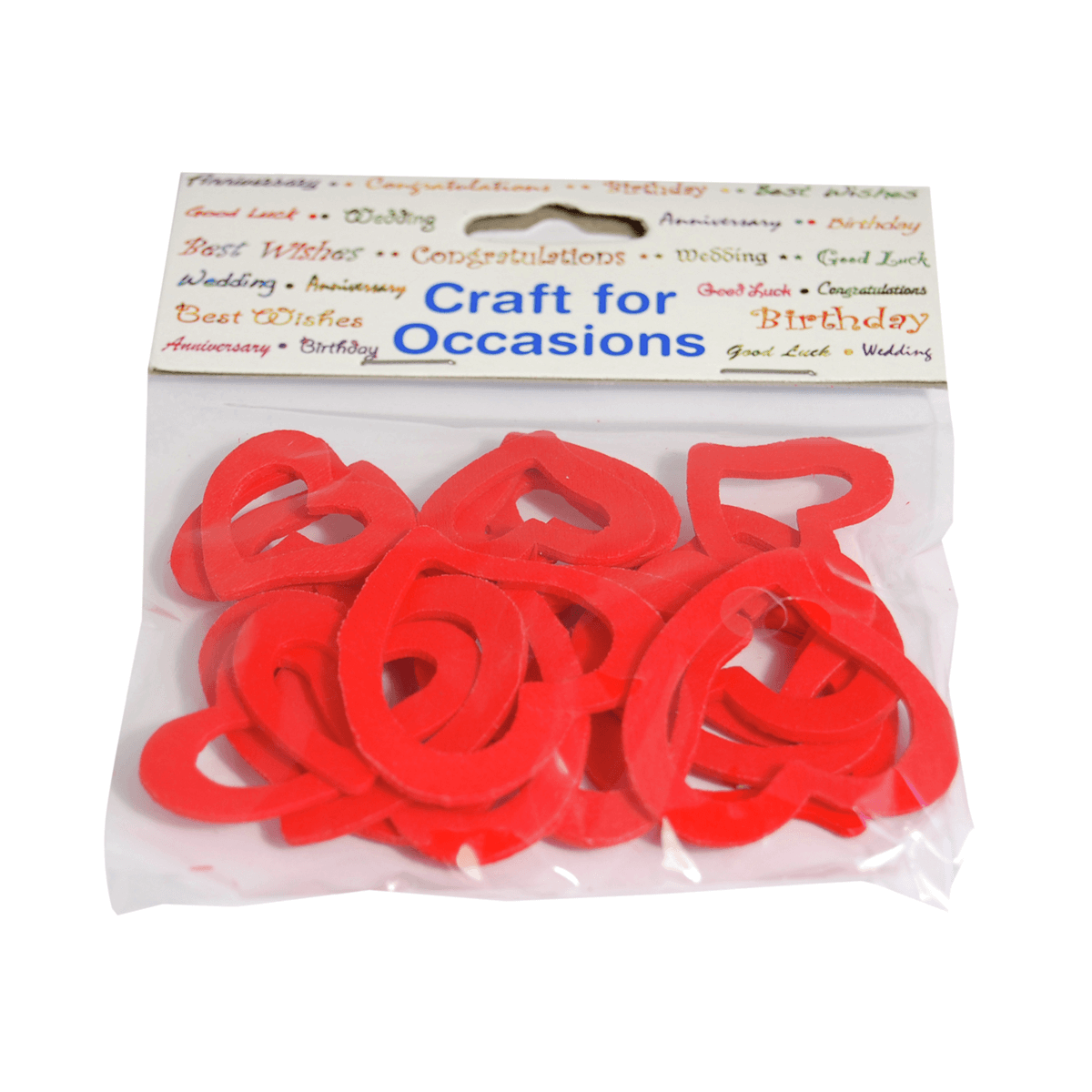 20 x Wood Hearts Outline 2 Sizes Red Craft Embellishments