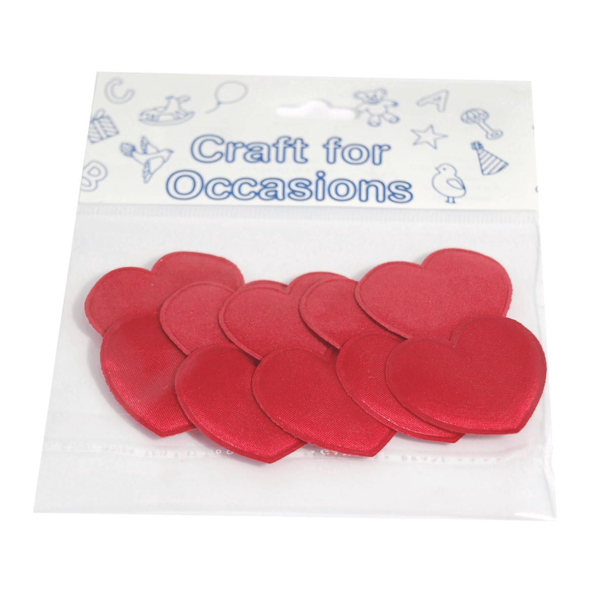 10 x Padded Hearts 3cm Burgundy Embellishment Craft Cardmaking