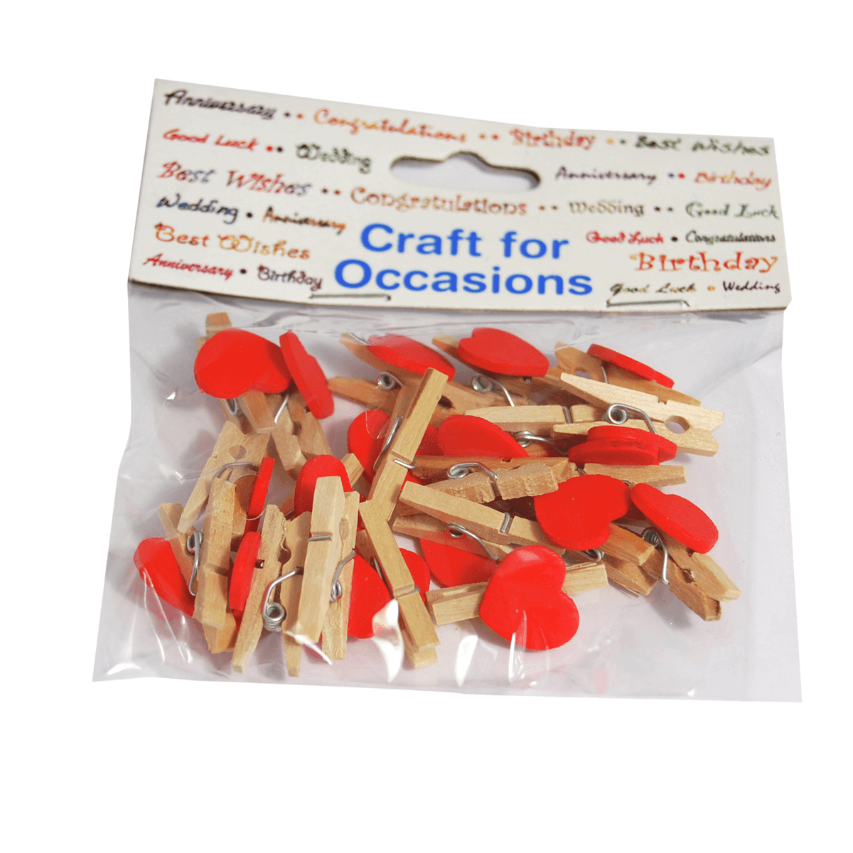 20 x Natural Wood 25mm Craft Pegs Embellishments