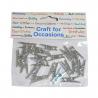 20 x Metallic Craft Pegs Embellishments Cardmaking