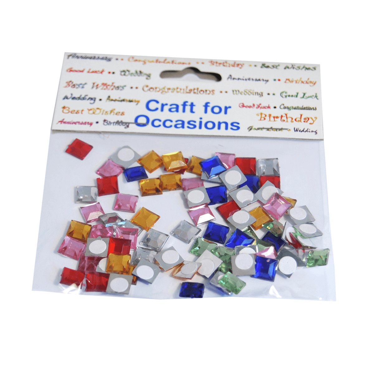 80 x Mirror Squares Embellishment Craft Cardmaking