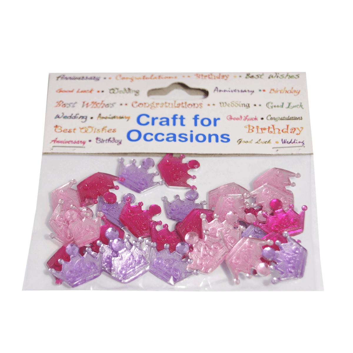 30 x Jewel Crowns Embellishment Craft Cardmaking