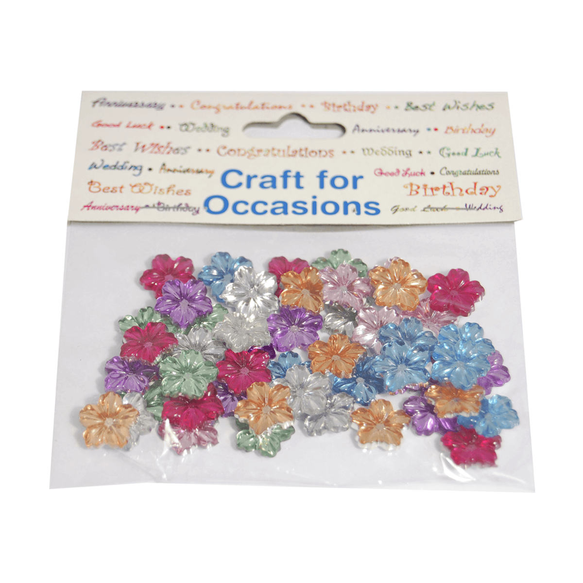 49 x Jewel Flowers Embellishment Craft Cardmaking