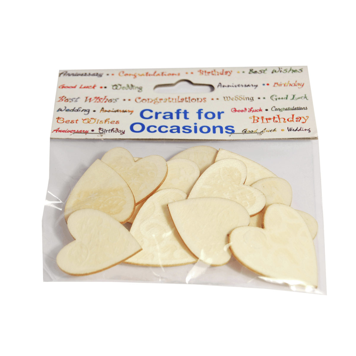 12 x Hearts Natural Assorted Embellishment Craft Cardmaking