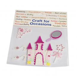 6 x Princess Castle Kit Craft Embellishments Cardmaking