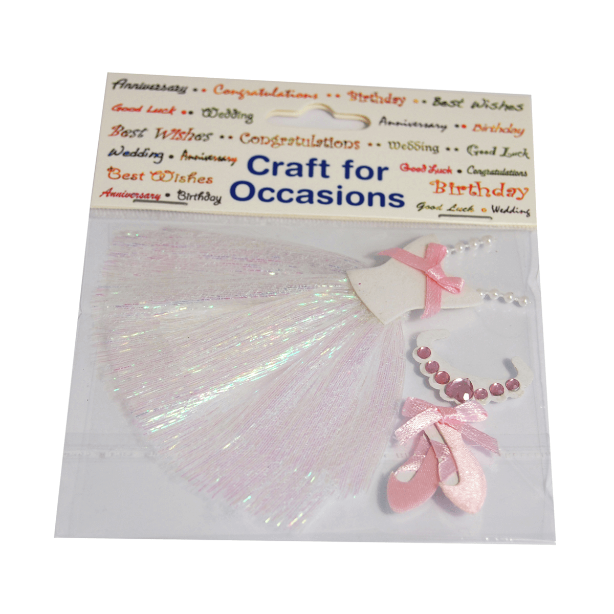 3 x Princess Ballerina Kit Craft Embellishments Cardmaking