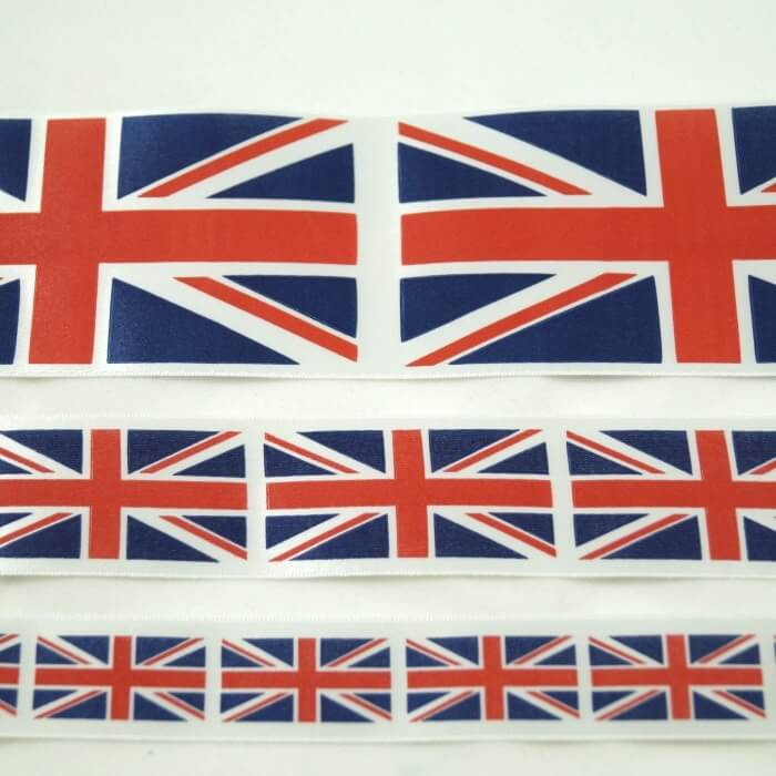 Union Jack Ribbon 25mm, 35mm, 70mm