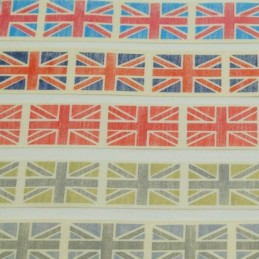 Vintage Union Jack Ribbon 2m x 25mm
