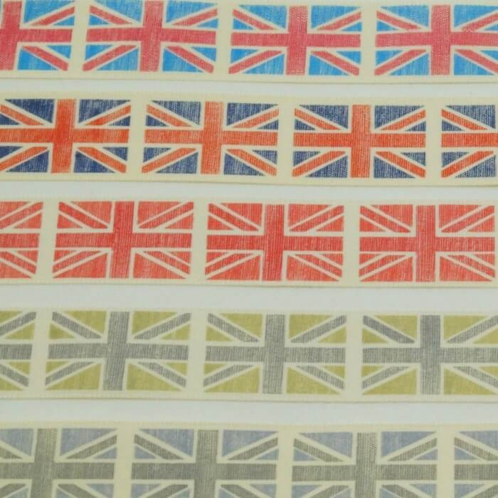 25mm Vintage Union Jack Ribbon