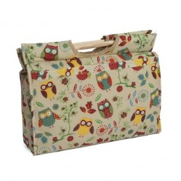 Rustic Ranch: Owl Wooden Handle Knitting Craft Storage Bag