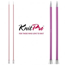KnitPro Zing Single Ended Pointed Knitting Pins Needles 25cm