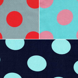 50mm Colourful Polka Dot Spots 100% Cotton Fabric
