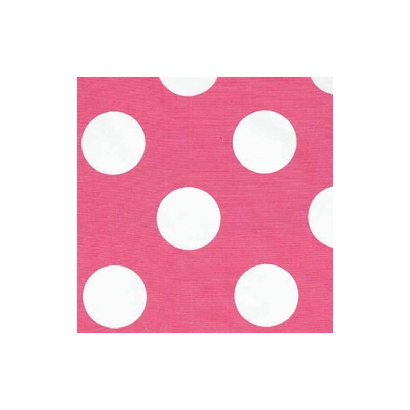 50mm White Polka Dot Spots 100% Cotton Fabric