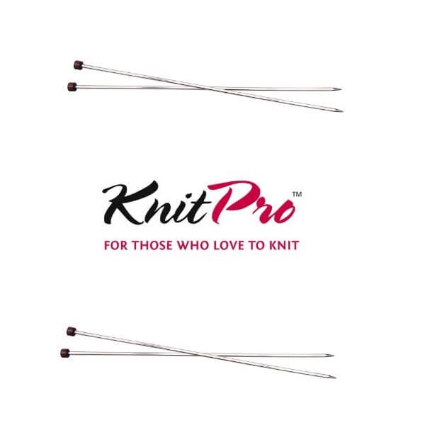 KnitPro Nova Cubics Single Pointed Knitting Pins Needles 25cm