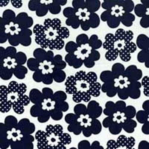 Peters Petals Flower Heads 100% Cotton Fabric