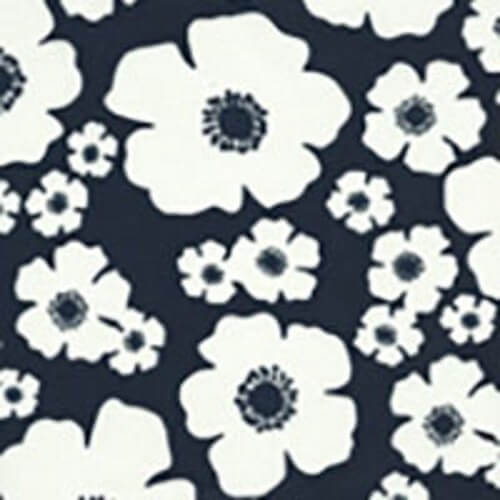 John Floral Flower Head Petals 100% Cotton Fabric