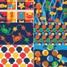 Under The Sea Creatures Ocean Blue 100% Cotton Fabric Patchwork (Fabric Freedom)