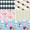 Vegetable Patch Floral 100% Cotton Fabric Patchwork (Fabric Freedom)