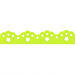 1 Metre 30mm Scalloped Scattered Star Satin Cut Out Neon Berisfords Ribbon Craft