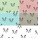 Cute Invisible Panda Faces Cotton Elastane Fabric