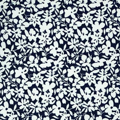 Rocky Lane Wild White Flower Jungle Floral 100% Cotton Fabric