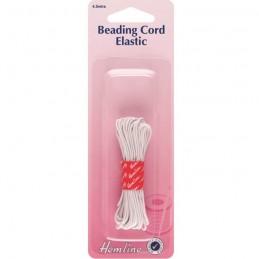 Hemline White Beading Cord Elastic 4.5m x 1.3mm