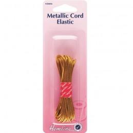 Hemline Metallic Gold Beading Cord Elastic 4.5m x 1.3mm