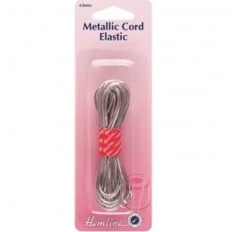 Hemline Metallic Silver Beading Cord Elastic 4.5m x 1.3mm
