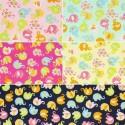 Mini Tumbling Floral Elephants 100% Cotton Poplin Fabric Patchwork (Fabric Freedom)