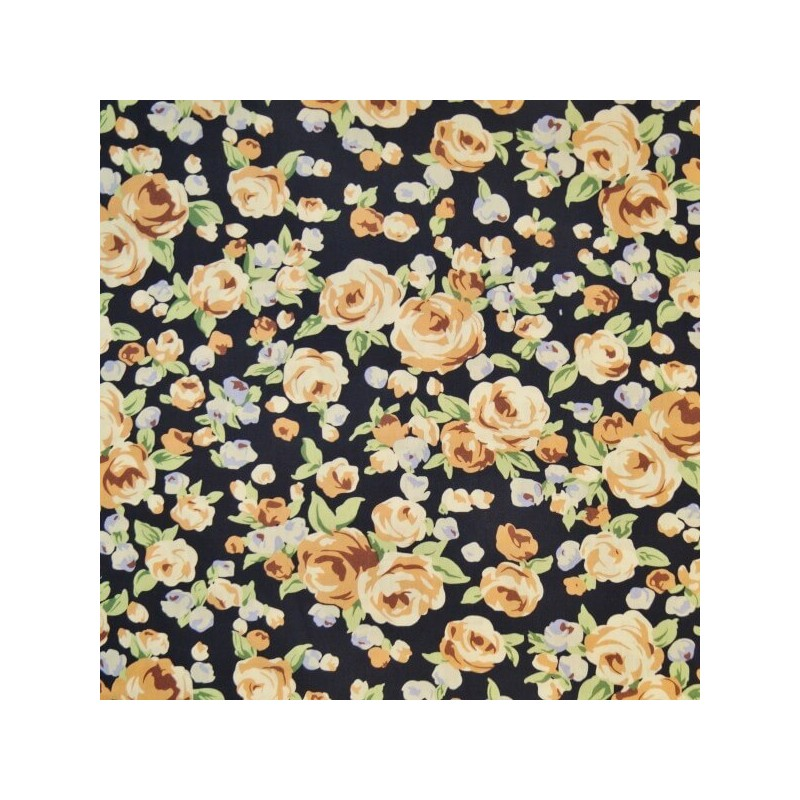 Perfect Occasion Pink Roses Flowers 100% Cotton Poplin Fabric (Fabric Freedom)