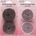 Hemline Black Or White Self Stick Hook & Loops Velcro Tape Value Pack 20mm x 1.25m
