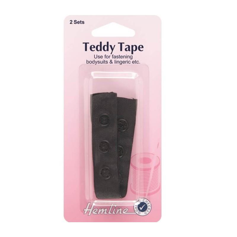 Black 90mm 2 sets Hemline Snap Tape
