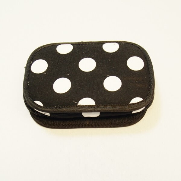 Mini Black and White Polka Dot Magnetic Travel Sewing Repairs Kit