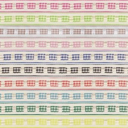 12mm x 2m, 5m, 10m Gingham Ruffle Effect Berisfords Essential Ribbon Craft