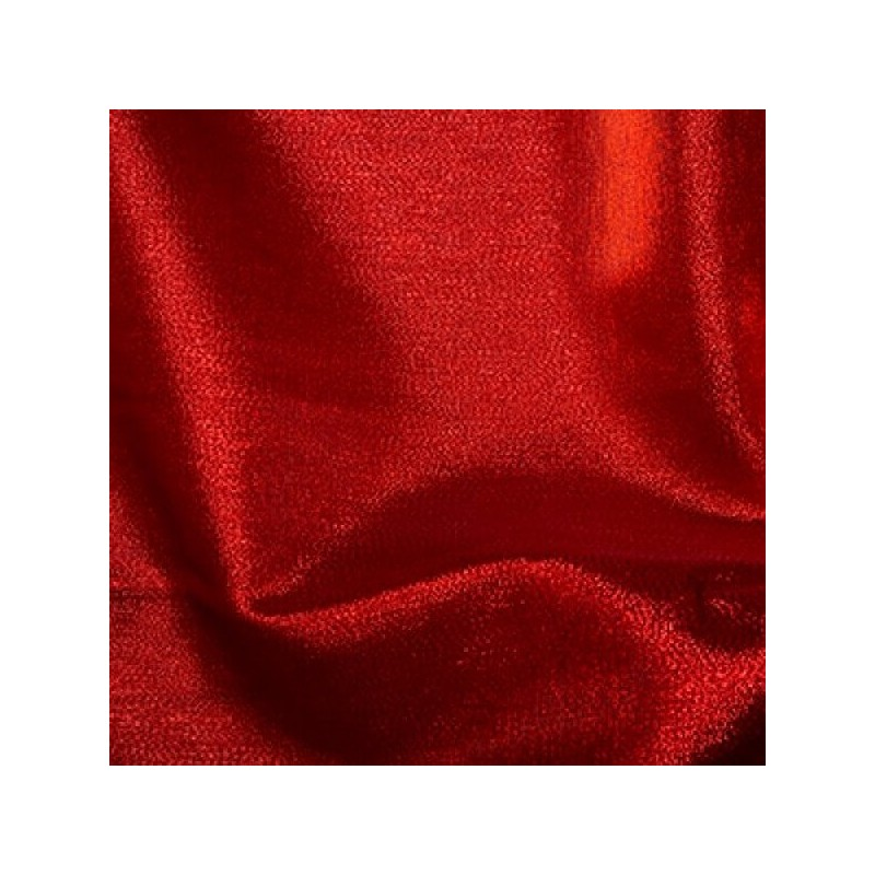 Red Metallic Organza Fabric