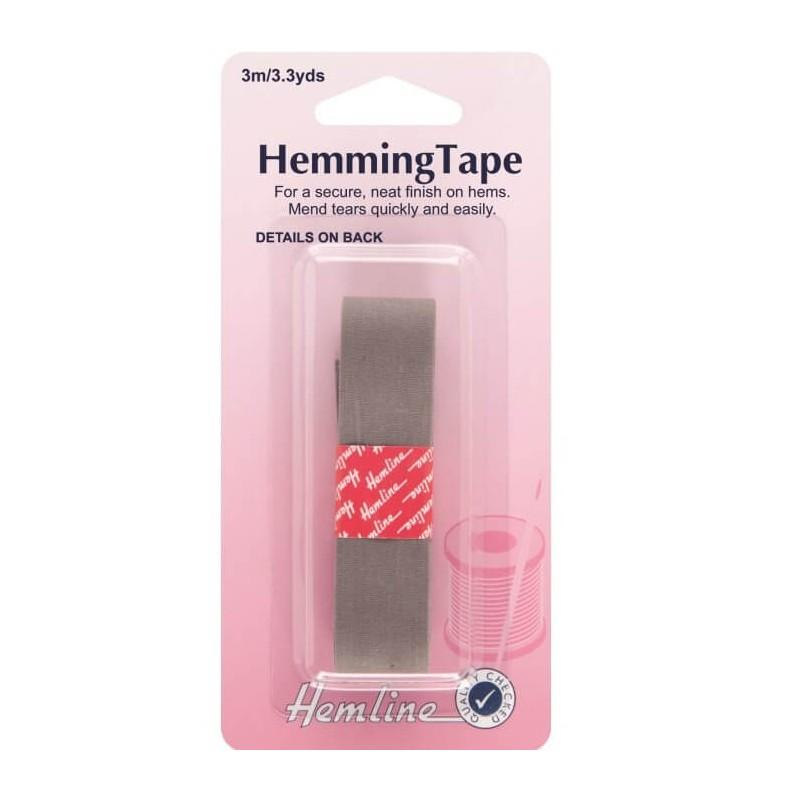 Hemline Hemming Tape 3m x 20mm In Black, White, Grey Or Navy