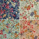 Guildford Road Small Bunched Blossoming Flowers 100% Cotton Poplin Fabric (FF)
