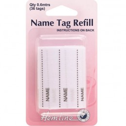 Hemline Name Tag Refill 36 Tags