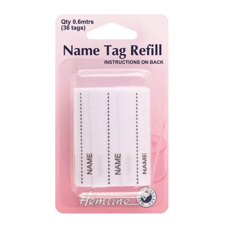 Hemline Name Tag Refill 36 Tags