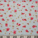 Sky Blue 100% Cotton Poplin Fabric Rose & Hubble Ditsy Roses Hearts Floral Flowers