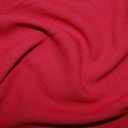 Red Plain Fashion Crepe Fabric Dress Material (150cm wide)