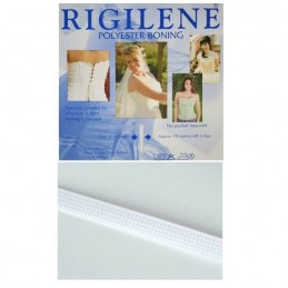 Rigilene Polyester Boning 8mm x 5m In Clear Or White