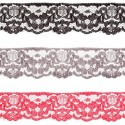 31mm x 1m, 2m, 5m and 10m Floral Daisy Chain Leaves Nylon Lace Craft
