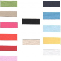 Cotton Herringbone Tape 20mm In 13 Colours Bunting, Aprons & Bag Making Straps