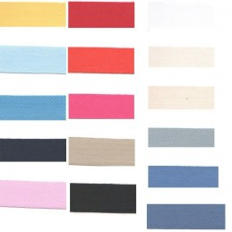 Premium Quality 14mm Cotton Twill Ribbon Tape In 24 Colours