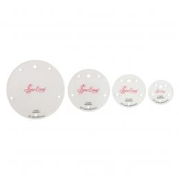 Set of 4 Mini Circle Templates Small Round Circular Patchwork Tools