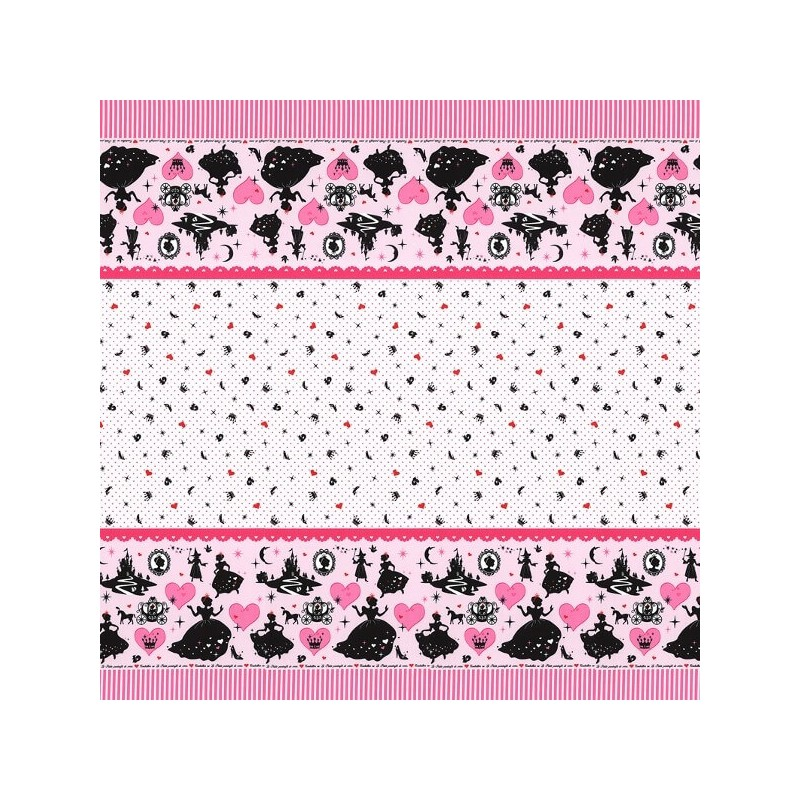 Girl's Story Border Cinderella 100% Japanese Patchwork Cotton Fabric (Lecien)