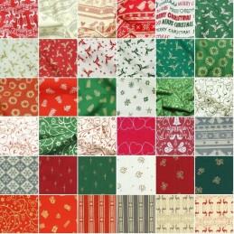 100% Cotton Fabric John Louden Scandinavian Christmas Collection Festive Xmas