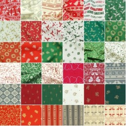 Sale 100% Cotton Fabric John Louden Scandinavian Christmas Collection Festive