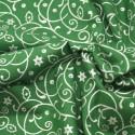 Holly Bush Swirls Silver/Green